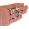 Womens Diamond Cluster Ear Crawlers 18K White Gold 2.92 Carat