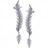 Womens Diamond Flame Ear Crawlers 18K White Gold 1.00 Carat