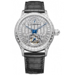Chopard L.U.C Tourbillon Baguette Cut Diamond Watch 171933-1001