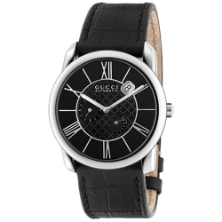 Gucci Handmaster Automatic Steel Black Dial Watch YA135301