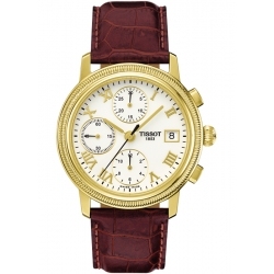 Tissot Bridgeport 18K Yellow Gold Mens Watch T71.3.465.13