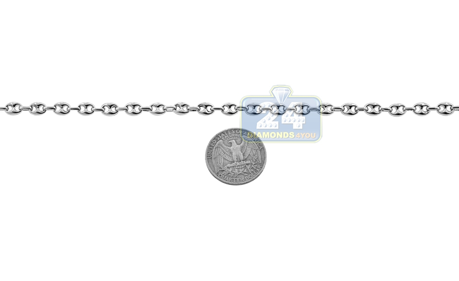 c93a718935bb77 Sterling Silver Puff Anchor Mens Chain 5.5 mm 22 24 26 30 36 inch