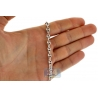 Sterling Silver Puff Anchor Mens Chain 5.5 mm 22 24 26 30 36 inch
