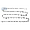 Italian 925 Silver Anchor Puff Link Mens Necklace 6.5 mm