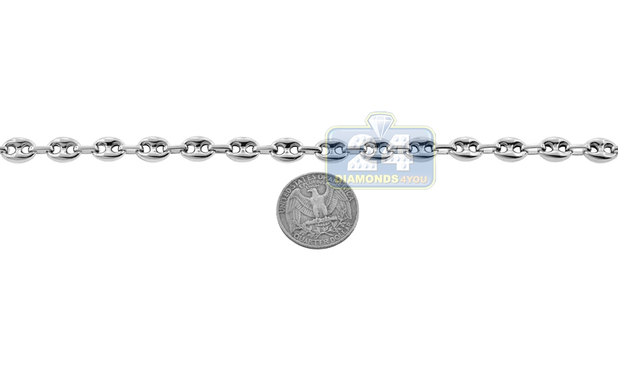 d40bd738fcfbc2 Sterling Silver Puff Mariner Mens Chain 8 mm 24 26 30 36 inch