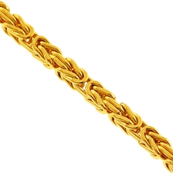 Italian 14K Yellow Gold Byzantine Mens Chain 2.5 mm