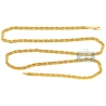 Italian 14K Yellow Gold Solid Byzantine Mens Chain 3.5 mm
