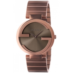 Gucci Interlocking 37 mm Brown PVD Mens Watch YA133317