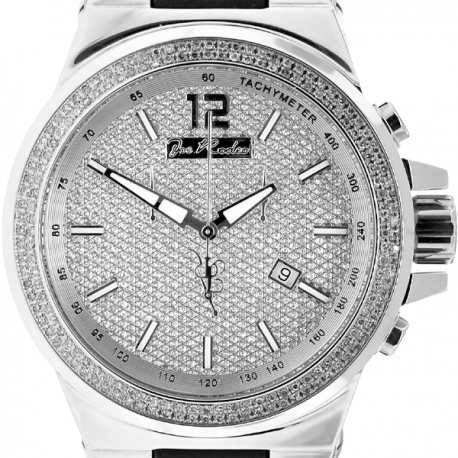 Mens Diamond Watch Joe Rodeo Liberty JRLI4 1.50 ct Silver