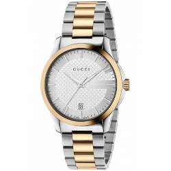 Gucci G-Timeless 38 mm Two Tone Gold Steel Mens Watch YA126450