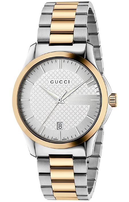 fb63030259b Gucci G-Timeless 38 mm Two Tone Gold Steel Mens Watch YA126450