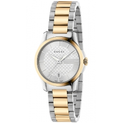 Gucci G-Timeless 27 mm Two Tone Womens Watch YA126531