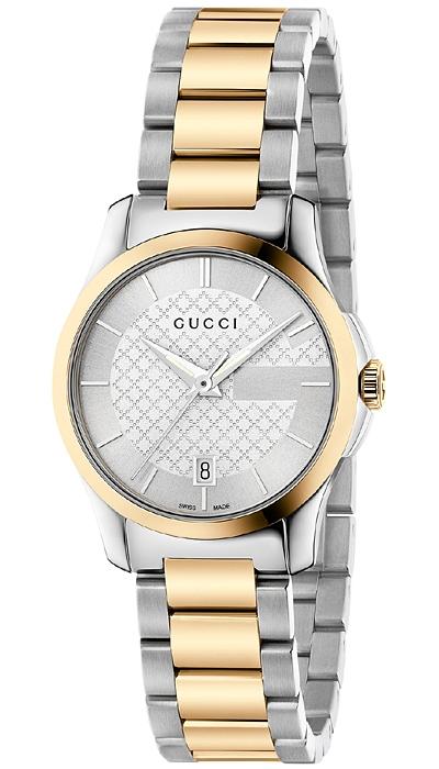 81b090c42f3 Gucci G-Timeless 27 mm Two Tone Womens Watch YA126531