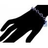 """Sterling Silver Purple Evil Eye Womens Luck Bracelet 10mm 7.5"""""""