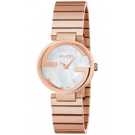 Gucci Interlocking 29 mm Womens Rose Bracelet Watch YA133515