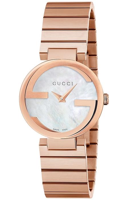 e005b49292c Gucci Interlocking 29 mm Womens Rose Bracelet Watch YA133515
