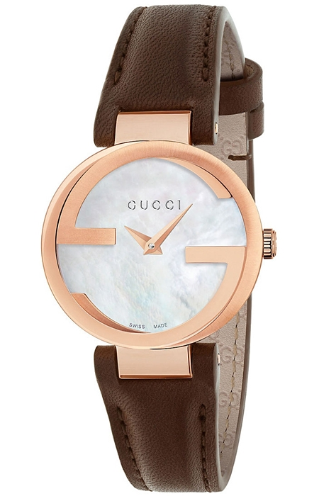 dfdf2f32088 Gucci Interlocking 29 mm Womens Rose Steel Watch YA133516