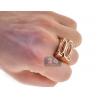 Mens Princess Diamond Large Ring 14K Rose Gold 1.30 ct