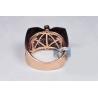 Mens Diamond Signet Pinky Ring 14K Rose Gold 1.33 Carat