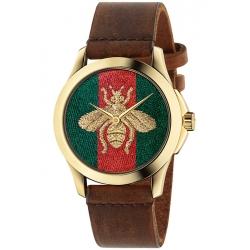 Gucci G-Timeless Honey Bee Gold Tone Steel Watch YA126451