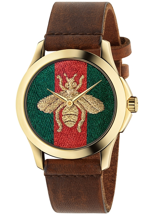 6f3eeda2327 Gucci G-Timeless Honey Bee Gold Tone Steel Watch YA126451