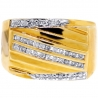 Mens Diamond Anniversary Band Ring 14K Yellow Gold 0.44 Carat