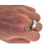 Diamond Bridal Ring Set for Him Her 18K White Gold 0.87 ct