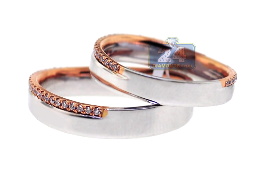 wedding tone platinum bands two band