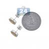 Womens Canary Diamond Halo Stud Earrings 14K White Gold 1.25 ct