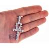 Mens Diamond Egyptian Ankh Cross Pendant 14K White Gold 2.85 ct