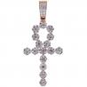 Mens Diamond Egyptian Ankh Cross Pendant 14K Rose Gold 2.85 ct