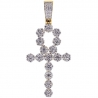 Mens Diamond Egyptian Ankh Cross Pendant 14K Yellow Gold 2.85 ct