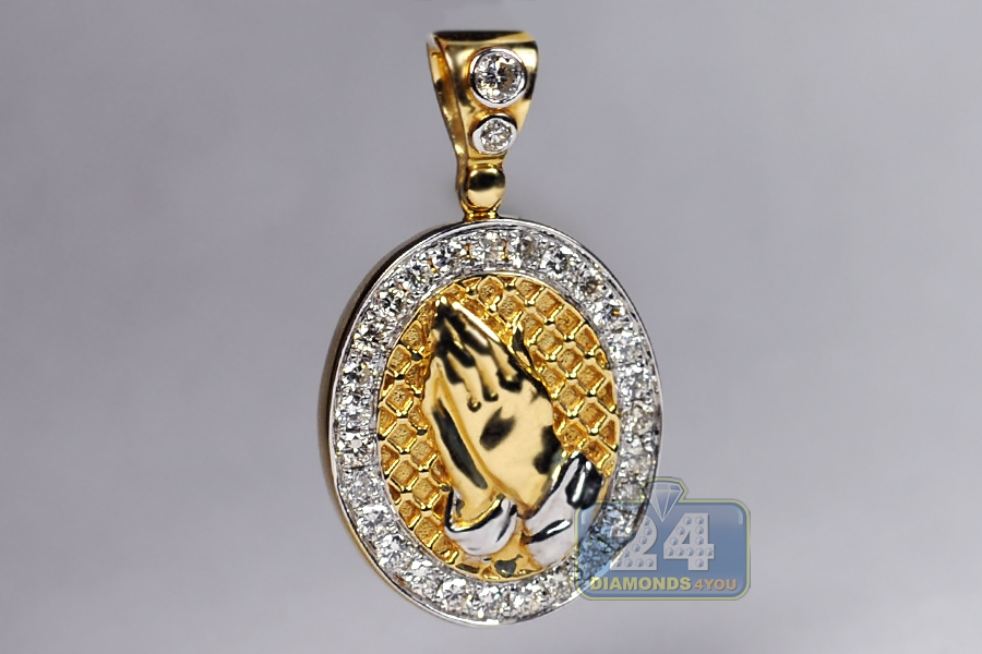 grate saint cz karat pendant gold cubic popular zirconium zirconia yellow lazarus medallion products jewelry cropped