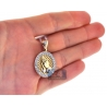 Mens Diamond Praying Hands Medallion 14K Yellow Gold 1.10ct