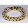 Mens Diamond Franco Bracelet 10K Yellow Gold 43.11 ct 410 grams