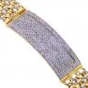 "Mens Diamond ID Cuban Link Bracelet 14K Yellow Gold 6.35 ct 8.75"""