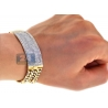 Mens Diamond ID Cuban Link Bracelet 14K Yellow Gold 6.35 ct 8.75""