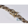 14K Yellow Gold 4.21 ct Diamond Cuban Mens ID Bracelet 9.25 inch