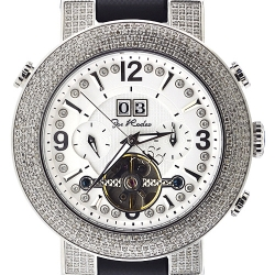Mens Diamond Automatic Silver Watch Joe Rodeo Soho JRSO2 4.00 ct