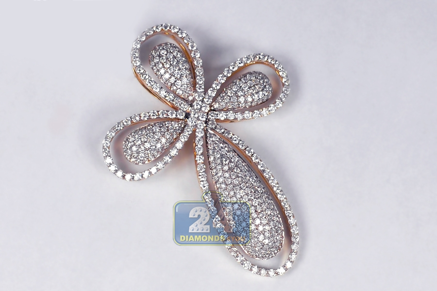 Mens diamond pave halo cross pendant 14k rose gold 293ct aloadofball Image collections