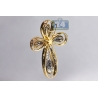 Mens Diamond Pave Halo Cross Pendant 14K Yellow Gold 2.93ct