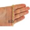 Handmade 18K Yellow Gold Russian Bismark Mens Chain 7 mm