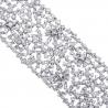 Womens Diamond Mesh Bracelet 18K White Gold 31.19 ct 7.5 inch