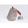 Womens Diamond Lattice Wrap Ring 18K Two Tone Gold 2.66 ct