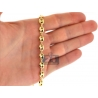 10K Yellow Gold Mariner Anchor Puffed Link Mens Chain 7 mm