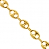 Real 10K Yellow Gold Hollow Anchor Puff Link Mens Chain 8 mm