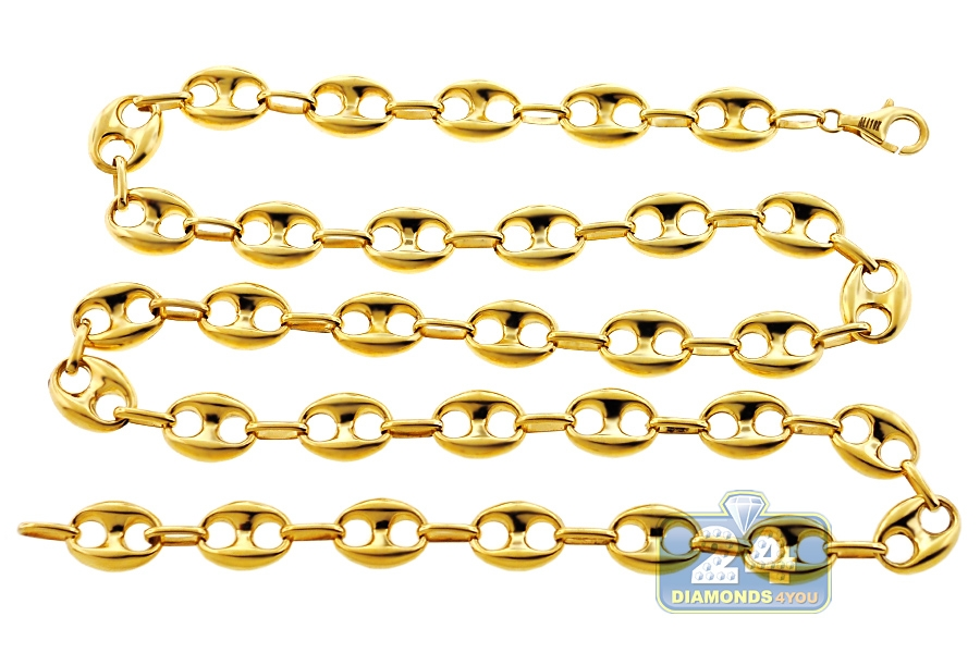 i cuban co mariner chain link gold necklace and yellow tiffany ss