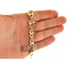 10K Yellow Gold Puffed Mariner Anchor Link Mens Chain 10mm