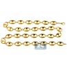 Real 10K Yellow Gold Puffed Mariner Anchor Link Mens Chain 12mm
