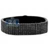 Joe Rodeo Steel 24.00 ct Black Diamond Bracelet 9 Inches